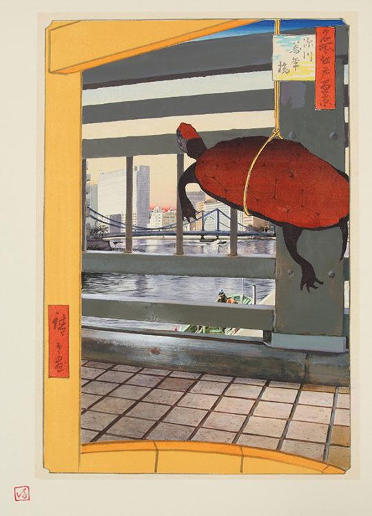 「江戸-東京 パースペクティブ「深川万年橋」」 ふるかはひでたか