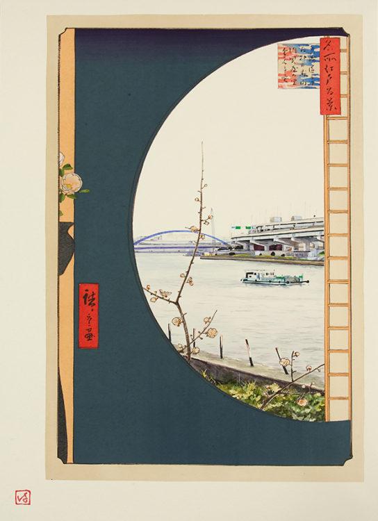 「江戸-東京 パースペクティブ「真崎辺より水神の森」」 ふるかはひでたか