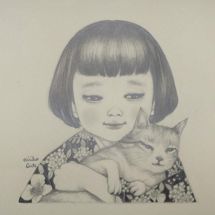 「冬の猫」 飯田キリコ